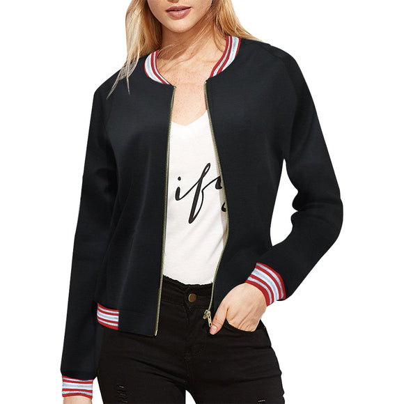 Nick-s-collingwood-page-collingwood-football-club Women's All Over Print Casual Jacket (Model H20)