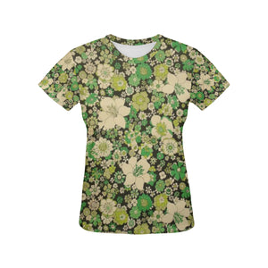 Floral Women's All Over Print T-shirt (USA Size) (Model T40)