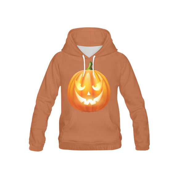 Happy Pumpkin Kid's All Over Print Hoodie (USA Size) (Model H13)