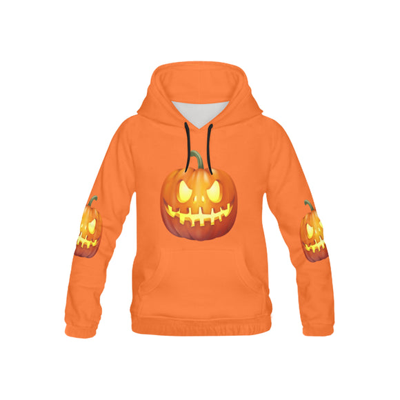 Kid's Monster Pumpkin All Over Print Hoodie (USA Size) (Model H13)
