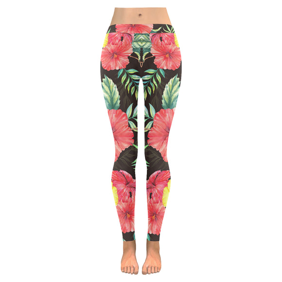 Tropical All-Over Low Rise Leggings (Model L05)