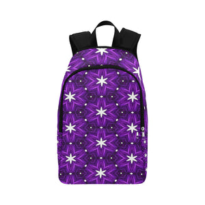 Julia Rose Background Star Purple Antique Adult Casual Backpack (Model 1659)