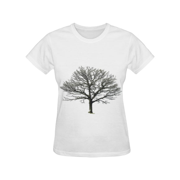 Bare Tree Women's All Over Print T-shirt (USA Size) (Model T40)
