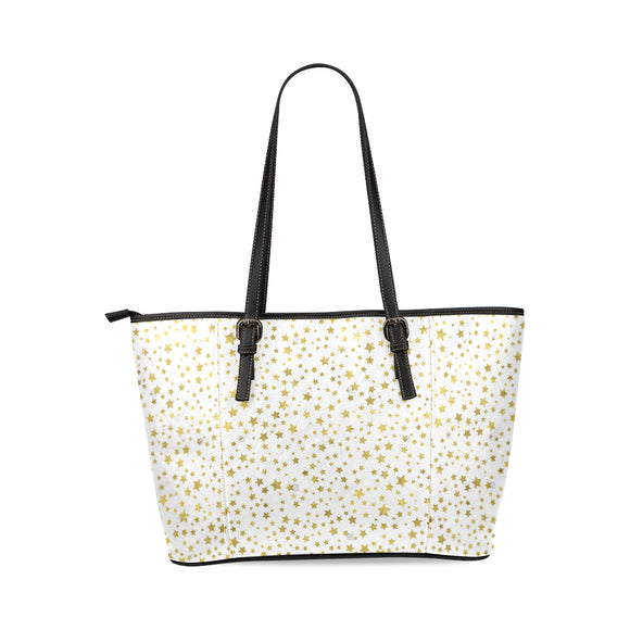 Abstract Stars Leather Tote Bag ( Model1640) (D394124)