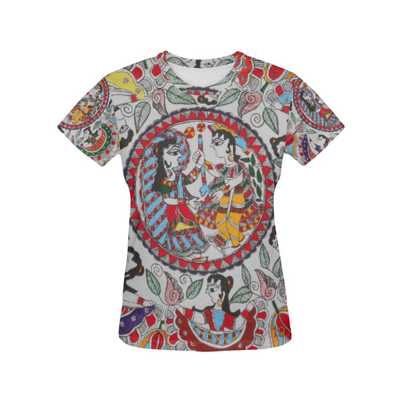Vintage Women's All Over Print T-shirt (USA Size) (Model T40)