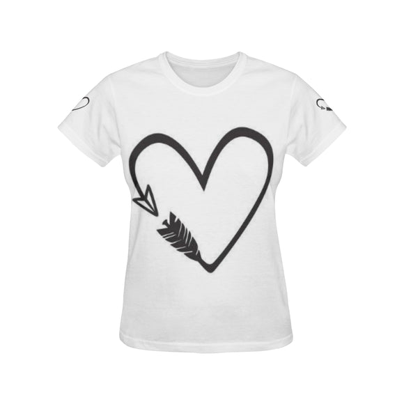Heart Love Women's All Over Print T-shirt (USA Size) (Model T40)
