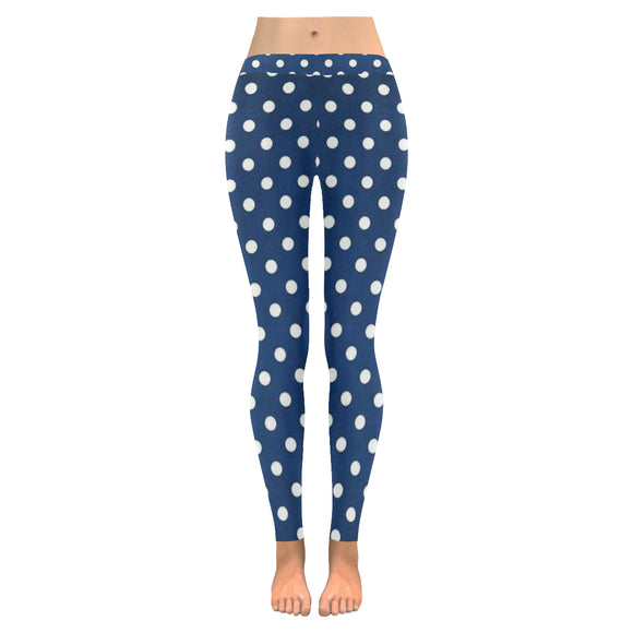 Polka D All-Over Low Rise Leggings (Model L05)