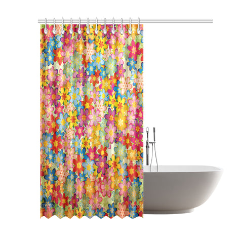 "Home Vintage Shower Curtain 69""x84"""