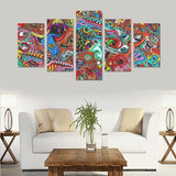 Home Abstract Canvas Wall Art Prints (No Frame) 5-Pieces/Set C