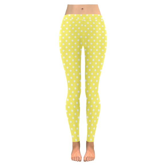 Polka Dots All-Over Low Rise Leggings (Model L05)