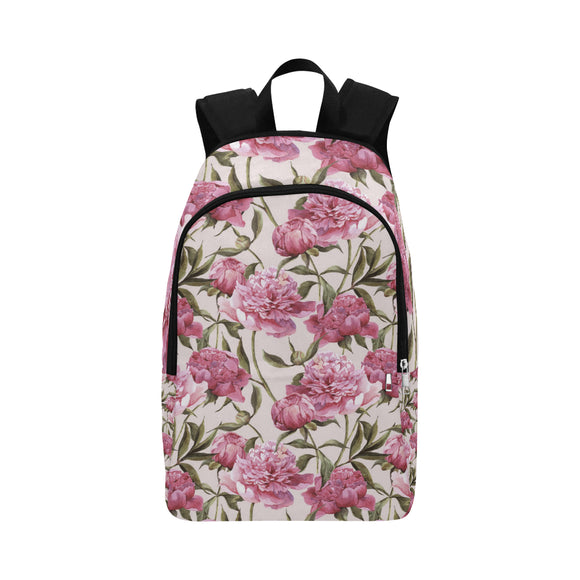 Julia Rose Nature Flower Floral Vintage Peony Pink Elegant Adult Casual Backpack (Model 1659)