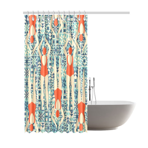 "Home Abstract Shower Curtain 69""x84"""