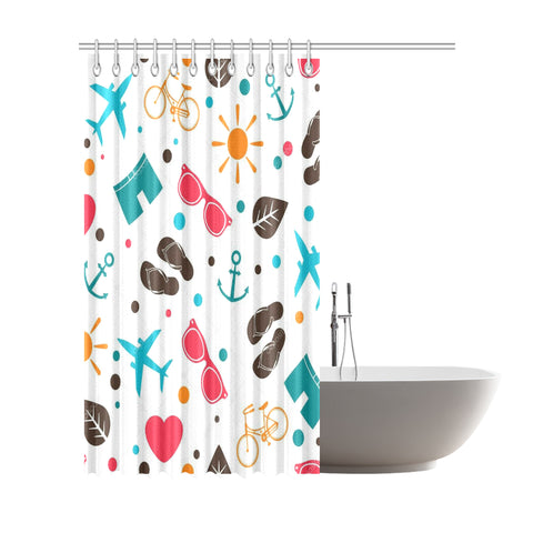 "Vintage Shower Curtain 72""x84"""
