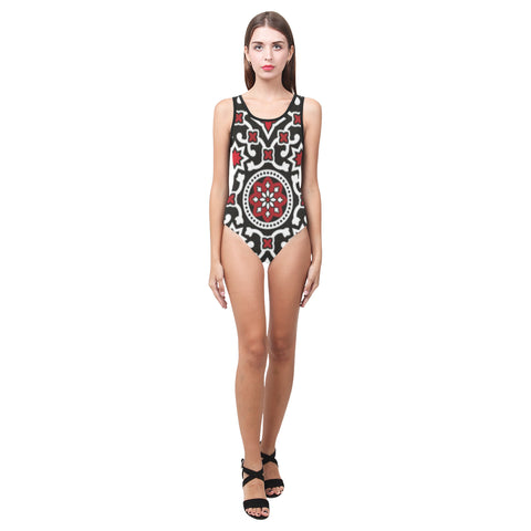 JudithV Ajrak Women's One Piece Swimsuit (Model S04)