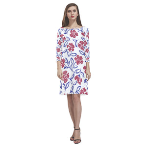 Floral Loose Round Neck Dress