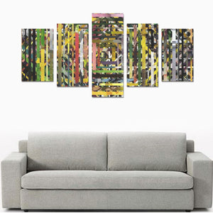 Home Canvas Wall Art Prints (No Frame) 5-Pieces/Set C