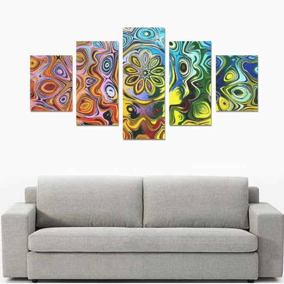 Canvas Wall Art Prints - 5 Piece Oil Paintings on Canvas (No Frame) Set B
