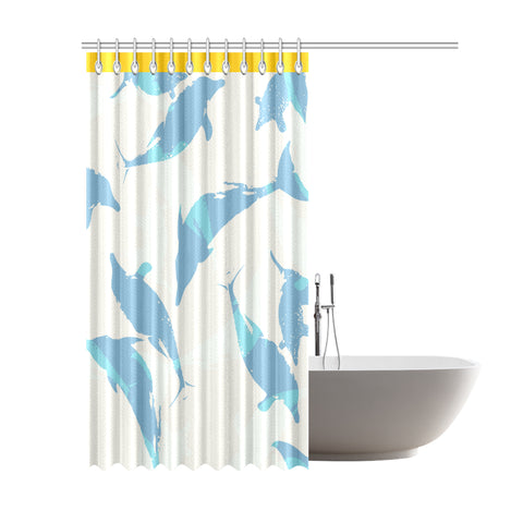 "Vintage Shower Curtain 69""x84"""