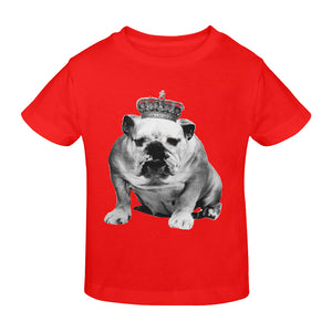 English Bulldog and Crown Classic Youth T-Shirt