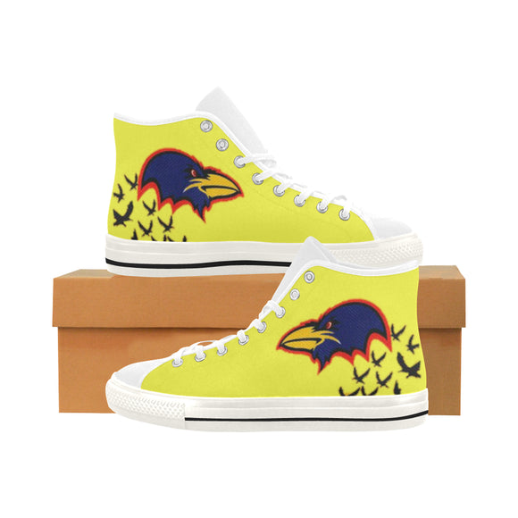Adelaide crows Vancouver High Top Canvas Women's Shoes (Model1013-1)