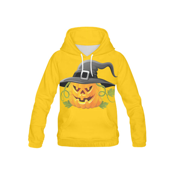 Pumpkin with a Hat Kid's All Over Print Hoodie (USA Size) (Model H13)