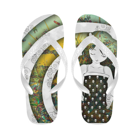 Psychedelic Flip Flops (For both Men and Women) (Model040)