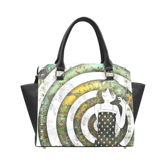 Abstract Rivet Shoulder Handbag (Model 1645)