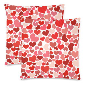 "Love Throw Pillow Cover 18""x 18"" (Twin Sides) (Set of 2)"