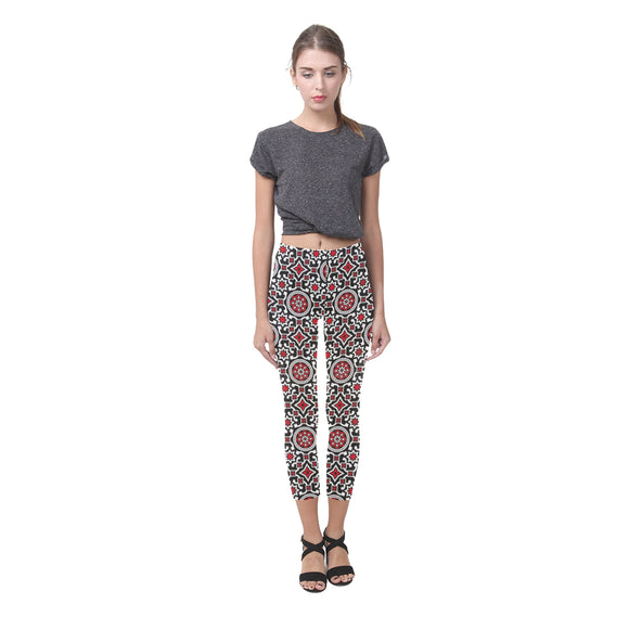 Ajrak All-Over Capri Leggings (Model L02)