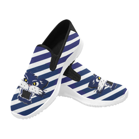 Geelongs Cat Orion Slip-on Canvas Men's Sneakers (Model042)
