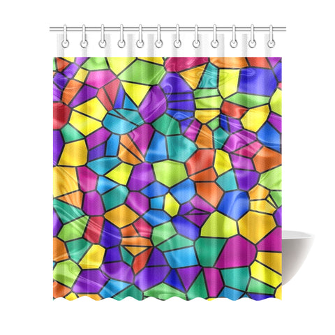 "Geometric Shower Curtain 72""x84"""