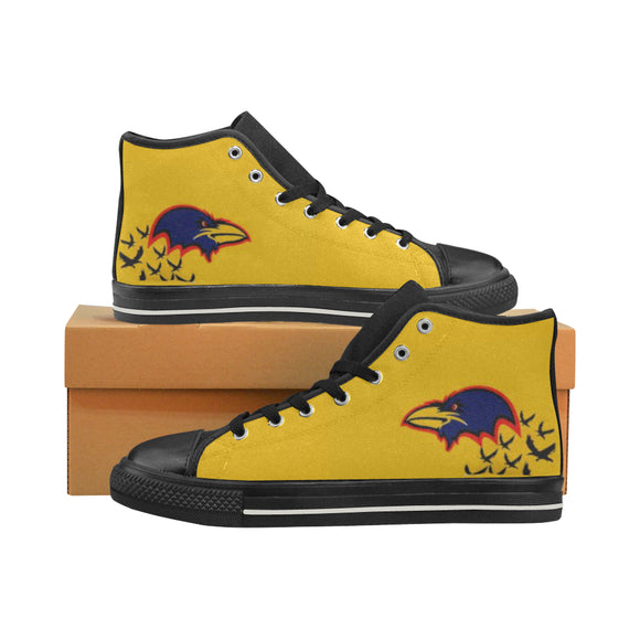 Australian Football High Top Canvas Women's Shoes (Model017)