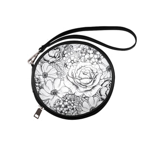 Black & White Round Makeup Bag (Model 1625)