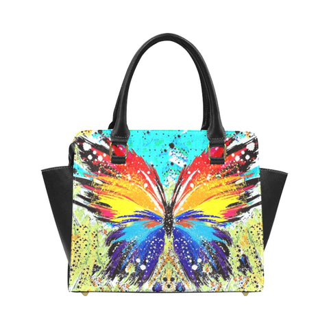 Abstract Classic Shoulder Handbag