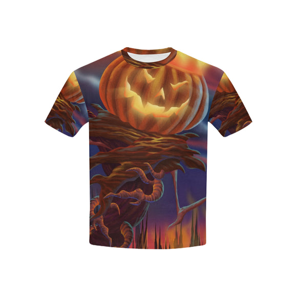 Monster Pumpkin Kid's All Over Print T-shirt