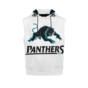 Panthers Men's All Over Print Sleeveless Hoodie (Model H15)