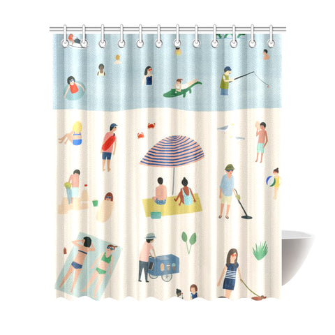 "Home-Vintage Shower Curtain 72""x84"""