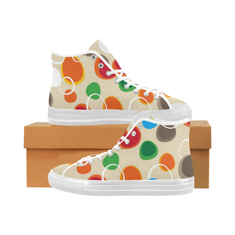 Bubbles Abstract Seamless Vancouver High Top Canvas Men's Shoes(Model1013-1) (Large Size)