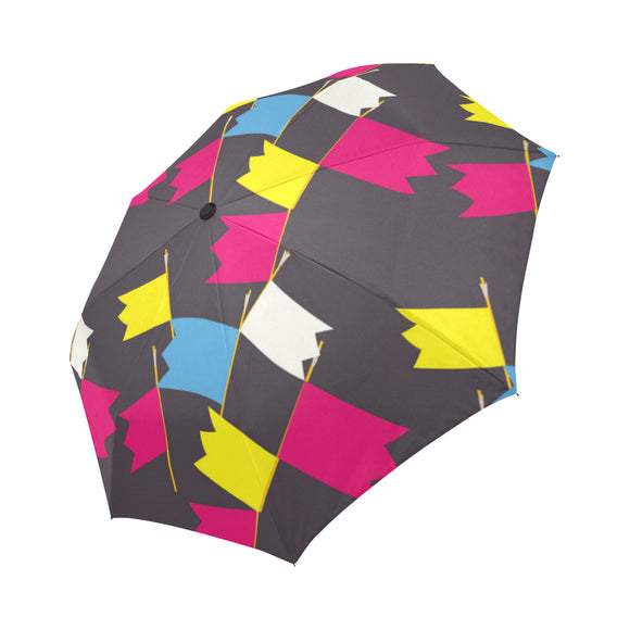 Flags pattern Automatic Foldable Umbrella