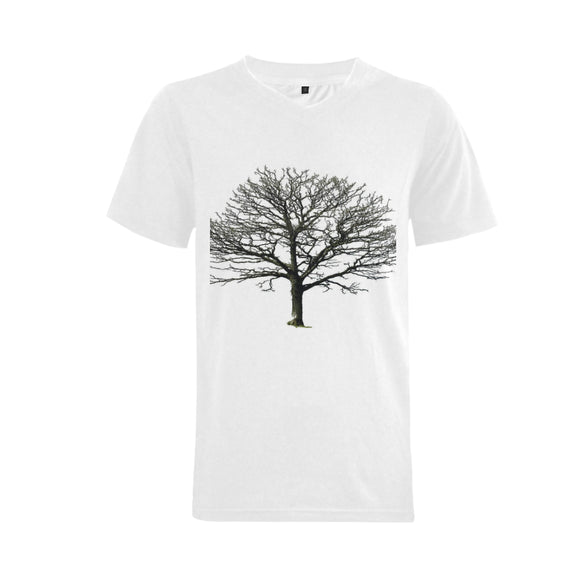Bare Tree Men's V-Neck  T-shirt (USA Size) (Model T10)