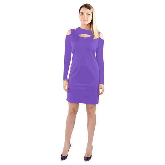 Love Halter Off Shoulder Long-Sleeve Dress (Model D37)