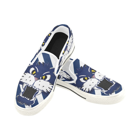 Geelongs Cat Slip-on Canvas Men's Shoes (Model019)