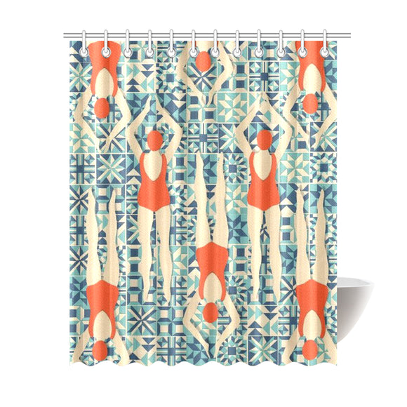 Home Abstract Shower Curtain 69