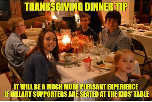 Thanksgiving Dinner Tip from Memes to Life