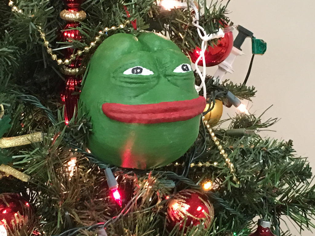 3d Printed Christmas Ornaments.Christmas Pepe Ornament Special Limited Edition 3d Printed Hand Painted