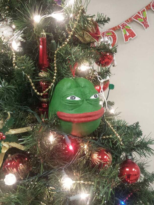 3d Printed Christmas Ornaments.Christmas Pepe Ornament Special Limited Edition 3d Printed