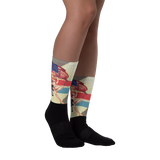 2nd Amendment Trump Girl  Fully Sublimated Comfy Holiday Socks