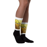 Golden Pepe Fully Sublimated Comfy Holiday Socks