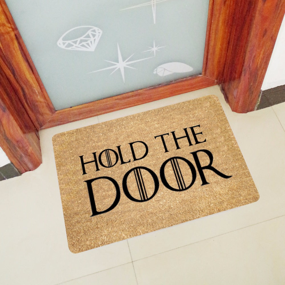 go anti welcome hola pattern design store mat away door product paw floor mats your wipe personality doormat