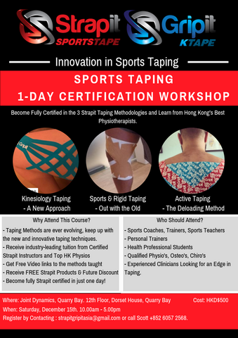 Strapit Taping Certification Course. KTape, Active Tape. Strapit Gripit